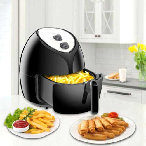 Air Deep Fryer  w/ Recipes - Temperature Control, Dishwasher