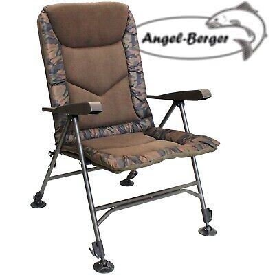 Angelhocker Stuhl Lion Sports Camou Angel Klapphocker mit Rückenlehne /& Tasche