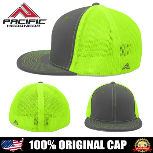 Pacific Headwear ORIGINAL Blend D-Series Trucker Mesh Flexfit Cap Hat 4D5 NEW!