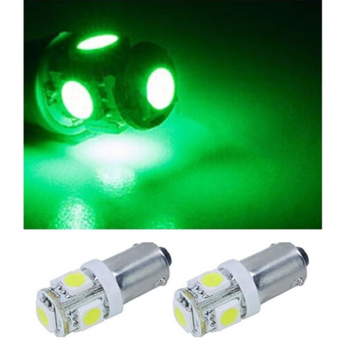 2 Green 5-LED Map Dash Panel Cluster Gauge Clock Glove Box Light Bulb #293 Pair