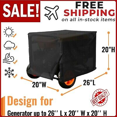 X-large Portable Generator Cover Fit For Wgen9500 Duromax Xp10000e Wen 56877 Etc