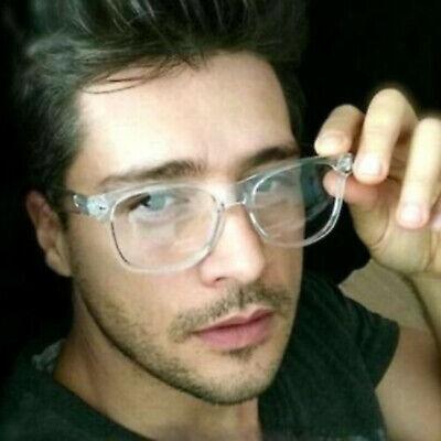 Retro Transparent Frame Classic Vintage Mens Horn Rimmed Clear Lens Eye (Vintage Glass Frames)