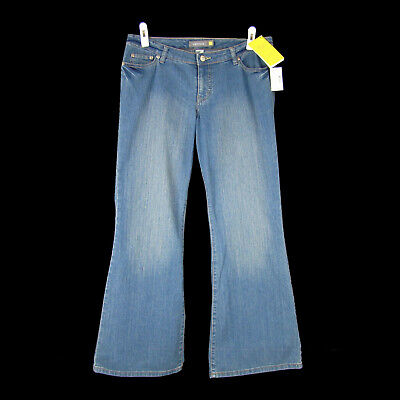 VENEZIA LANE BRYANT Jeans 2 Petite (16WP) NEW Right Fit Yellow Mid Rise Flare