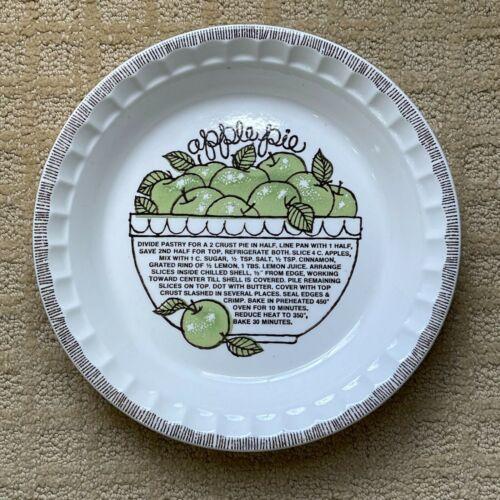 "Vintage Apple Pie Recipe Jeanette Royal China Pie Tarte Plate Dish 11"""