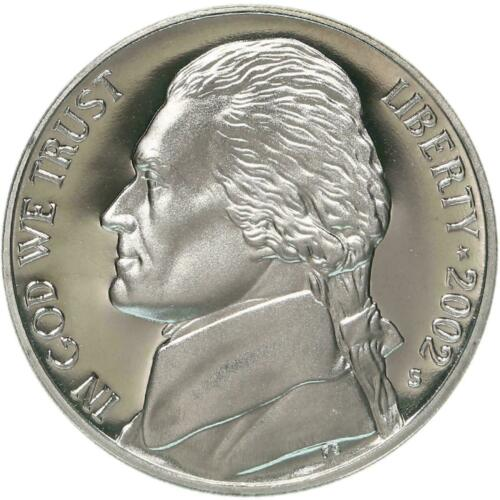 2002 S Proof Jefferson Nickel Free Shipping