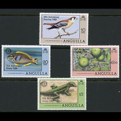 ANGUILLA 1980 Scouts & Rotary Overprints. SG 403-406. Mint Never Hinged. (AX024)