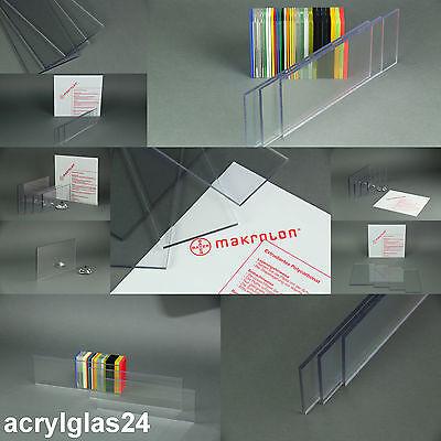 MAKROLON ® 125 €/m² POLYCARBONAT PC wie PLEXIGLAS ® TRANSPARENT ZUSCHNITT KLAR