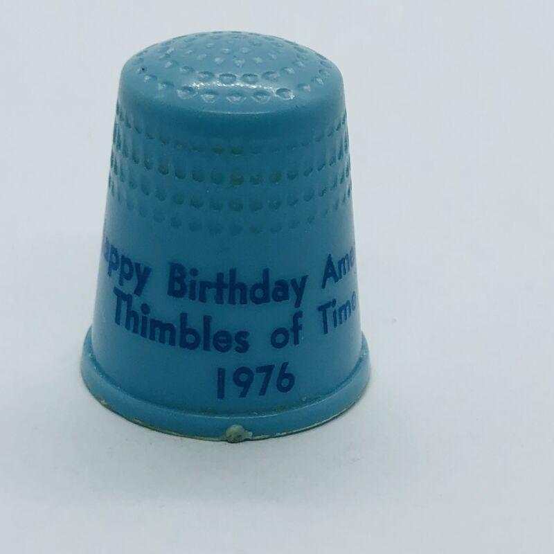 Vtg 1976 Happy Birthday America Thimble  - Thimbles of Time
