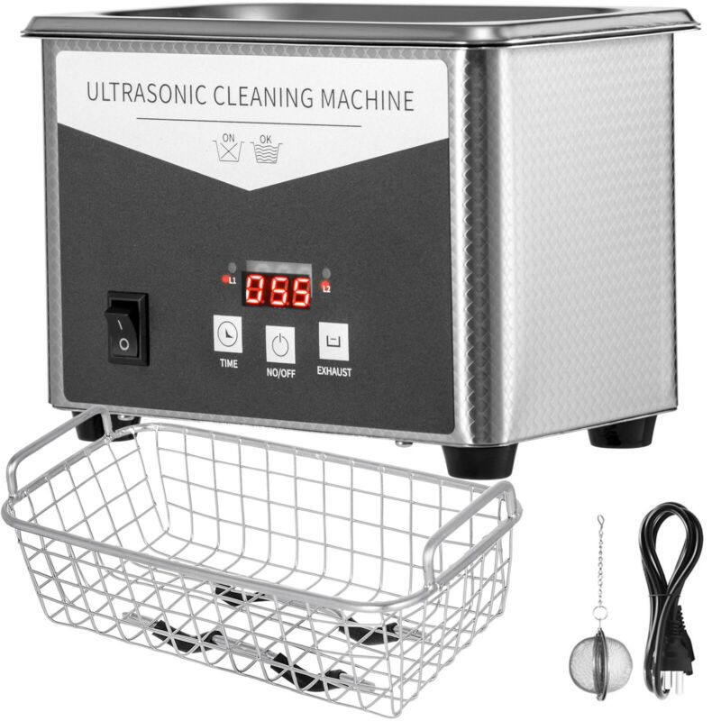 800ml 0.8L Ultrasonic Cleaner Digital Sonic Cleaning Equipment Stainless Steel
