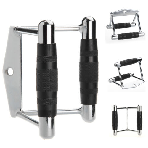 Seated Row V Handle Close Grip Lat Bar Multi Gym Training Cable Attachment Set