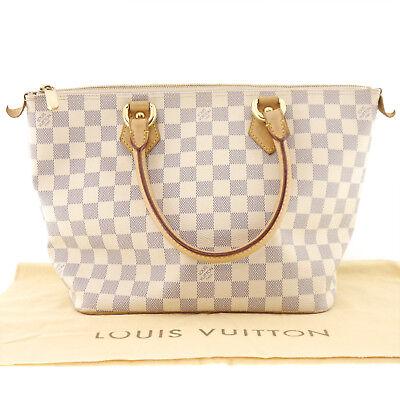 Authentic LOUIS VUITTON Saleya PM Hand Bag Damier Azur Canvas N51186 #f38677