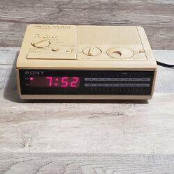 Vintage 80's Sony Dream Machine ICF-C2W AM FM Alarm Clock Radio Digital Display
