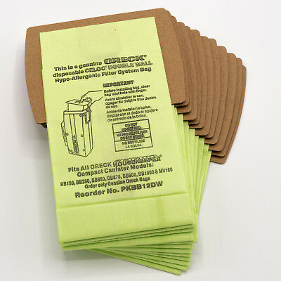 12 Pack Oreck Vacuum Bags for XL Buster B & Housekeeper Comp
