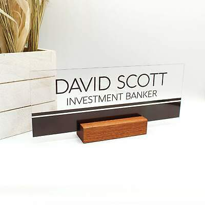 Personalized Desk Nameplate For Office Work Men Perfect Gift Coworker Teach