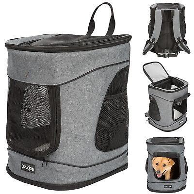 Cadoca® Haustier Rucksack Hunderucksack Tiertragetasche Katze Hunde