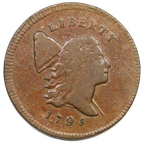 1795 C-4 R-3 Plain Edge Liberty Cap Half Cent Coin 1/2c