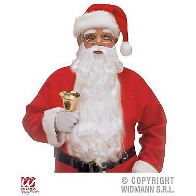 Weihnachtsmann Maxi sehr langer Bart mit Augenbrauen