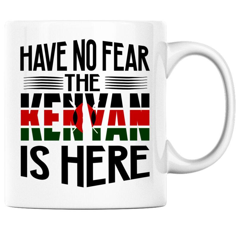 Have No Fear the Kenyan is Here Funny Coffee Mug Kenya Heritage Pride