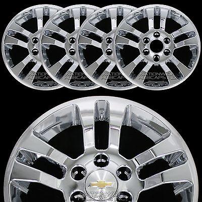 "4 New 2014-17 SILVERADO 1500 18"" Chrome Wheel Skins Hub Caps Aluminum Rim Covers"