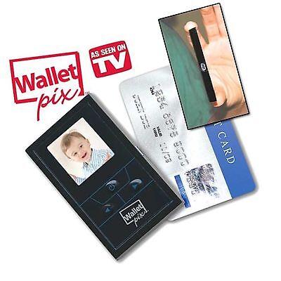 Wallet Pix Black Pocket Size Digital Photo Album - New