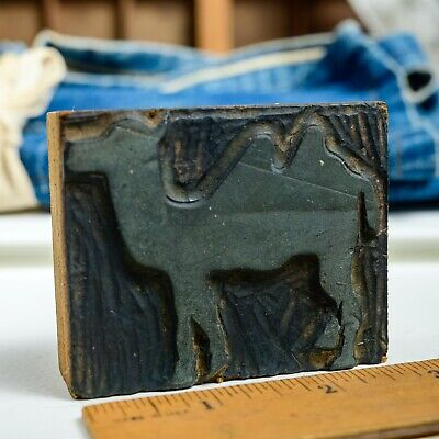 Camel Med 3x 2.375 Vintage Letterpress Printers Block