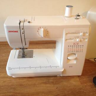 Janome 415 sewing machine hardly used in excellent condition