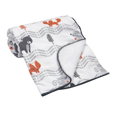 Bedtime Originals Acorn Blanket - Gray, Animals, Woodland, Forest, Outdoors