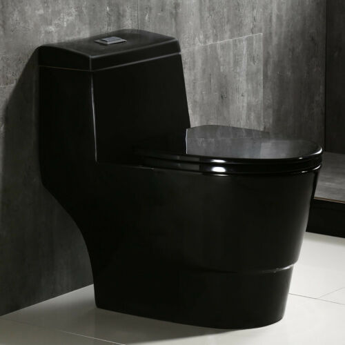 Woodbridge B0941 Modern One Piece Toilet with Soft Closing Seat ,Black Color