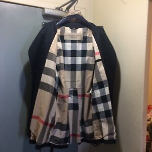*WEEKEND SALE $600* BURBERRY TRENCH COAT BLK SIZE M