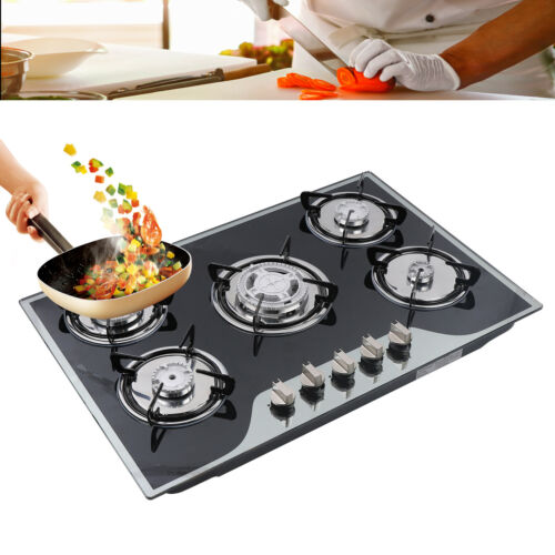 """30"""" Stainless Steel Built-in 5 Burners Stove Kitchen LPG/NG"""