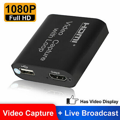 1080p 60fps HDMI Video Digtal Capture Card Recorder for Stre