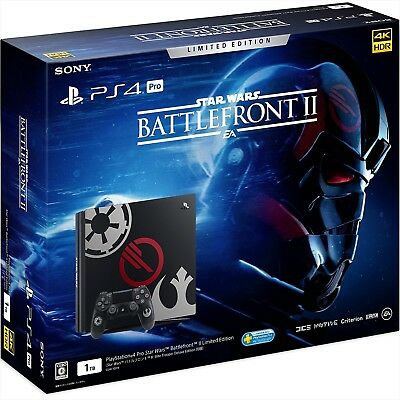 Sony PS4 PlayStation 4 Pro Console Star Wars Battlefront II Limited Edition NEW
