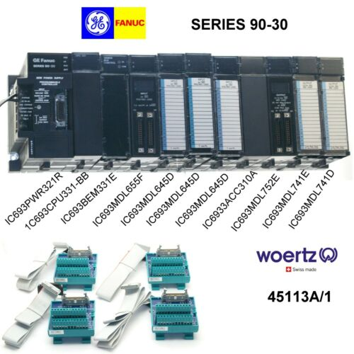 GE Fanuc PLC Rack, Series 90-30 IC693CPU331-BB Refurbished complete controller
