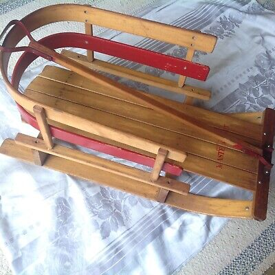Sleds & Snow Tubes - Antique Wooden Sled