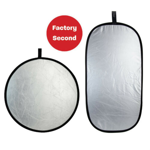 """FACTORY SECOND: 2x Rogue Super Soft SilverCollapsible Reflectors 32"""" AND 20""""x40"""""""