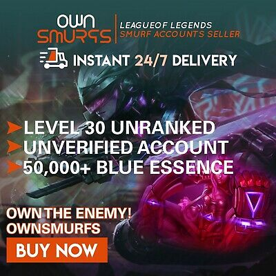 [EUNE 50K+] League of Legends Unranked Account EUNE SMURF LoL 50,000 - 60,000 BE