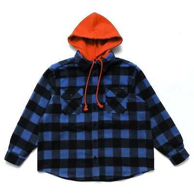 NEW $600+ 424 ON FAIRFAX Button Up Hooded Flannel AW18 four two four vlone sm