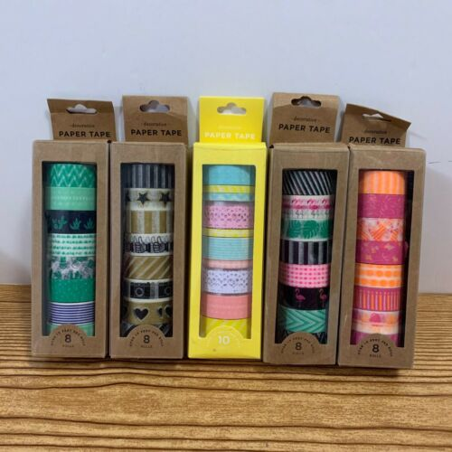 Washi Decorative Tape Lot Of 5 Rolls