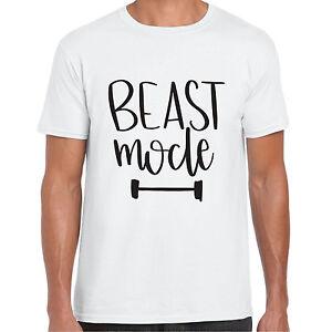 Beast-Mode-UOMO-TSHIRT-Vacanze-estate-da-palestra-sportive-REGALO-maglietta