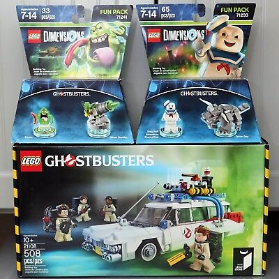 Lego 21108 Ghostbusters Ecto-1 + Slimer and Staypuft Minifigures ALL BRAND NEW