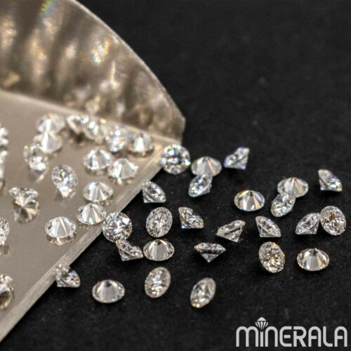 CVD LAB GROWN DIAMONDS FACETED ROUND 0.80-2.45MM D-F VS LOOSE GEMSTONE WP02712