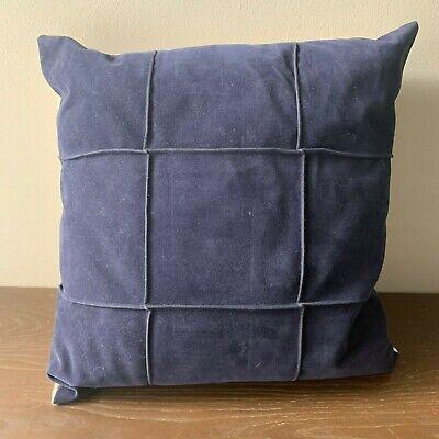 Threshold Faux Suede Square Pillow, Dark Blue Dark Blue Faux Suede