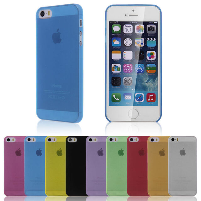 COVER CASE CASE iPHONE 5 5S ULTRA FINE 0.3MM SEMI TRANSPARENT + quality