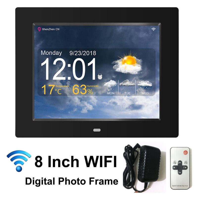 "WIFI Digital Photo Frame 8""  Remot Control Picture Player Clock Calendar Weather"