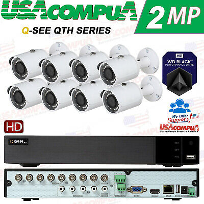 Q-See Security System 8 Channel  KIT QTH98 HD BULLET 1080P HARD DISK INCLUDED