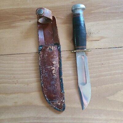 vintage marbles hunting knife