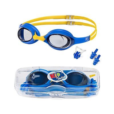 6a9913b5539 Swimming Goggles For Kids Age 4-12 Perfect Fit No Leak Nose   Ear Plugs  Children