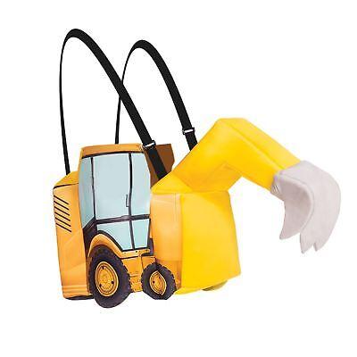 Kinder Jungen Bauherr darauf Reiten Bagger Gelb Bob Maskenkostüm - Alter - Bagger Kostüm