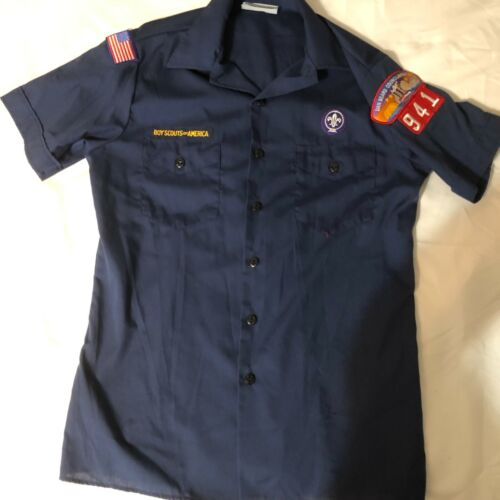 Official BSA Boy Scout Cub sht slv uniform shirt patches Y X Lrg Dan Beard Cncl