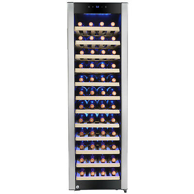 58 Bottle Single Zone Adjustable Compressor Freestanding Wine Cooler Refrigerate